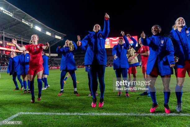 Ali Krieger of the United States celebrates during a game between Mexico and USWNT at Dignity Health Sports Park on February 7 2020 in Carson...