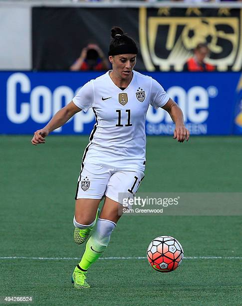 Ali Krieger of the United States drives the ball during a Women's International Friendly soccer match between Brazil and the United States at Orlando...