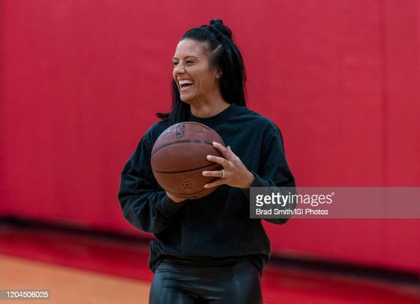 Ali Krieger of the United States holds the ball at Houston Rockets Training Center on February 1 2020 in Houston Texas