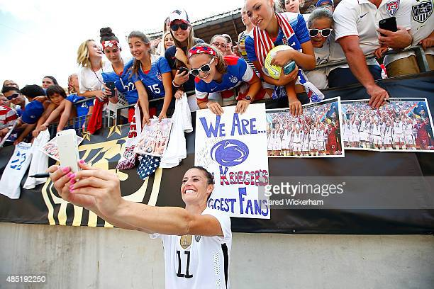 Ali Krieger of the United States in action against Costa Rica during the match at Heinz Field on August 16 2015 in Pittsburgh Pennsylvania