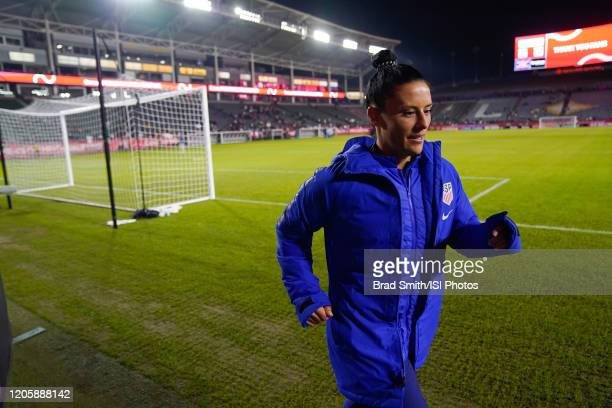 Ali Krieger of the United States runs on the field during a game between Mexico and USWNT at Dignity Health Sports Park on February 7 2020 in Carson...