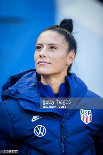 Ali Krieger of the United States takes the bench for the 1st half of the 2020 SheBelieves Cup match between United States and Spain sponsored by...