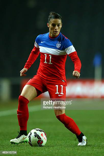 Ali Krieger of the USA in action during the Women's friendly International match between England and the USA at Stadium mk on February 13 2015 in...