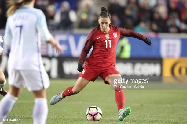 Ali Krieger of United States in action during the USA Vs England SheBelieves Cup match at Red Bull Arena on March 4 2017 in Harrison New Jersey