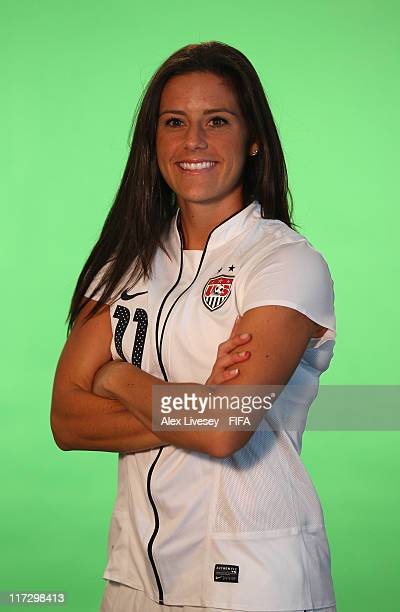 Ali Krieger of USA during the FIFA portrait session on June 25 2011 in Dresden Germany