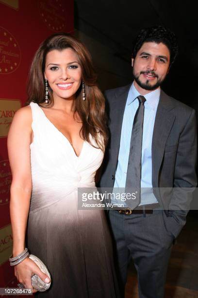 Ali Landry and Alejandro Monteverde attend Bacardi's Latino Legacy Event hosted by the National Hispanic Foundation for the Arts held at The New LATC...