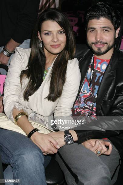 Ali Landry and Alejandro Monteverde during Cadillac Presents Rock Republic Fall 2005 Fashion Show Backstage and Front Row at Sony Studios in Culver...