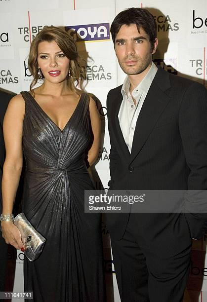 "Ali Landry and Eduardo Verastegui arrives at the ""Bella"" New York Premiere on October 25, 2007 at Tribeca Cinemas in New York City."