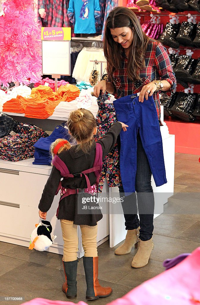 Ali Landry and Estela Ines Monteverde are seen shopping at The Children's Place on December 5, 2012 in Los Angeles, California.