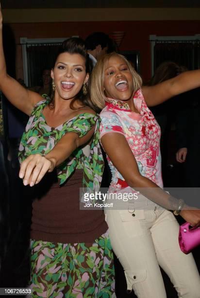 Ali Landry and Eve during Playstation 2 Hosts the Movieline Young Hollywood Awards After-Party in Los Angeles, California, United States.