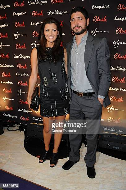 Ali Landry and her husband Alejandro Gomez Monteverde arrive at Blush Nightclubs 1 Year Anniversary at Wynn Las Vegas on October 18 2008 in Las Vegas...