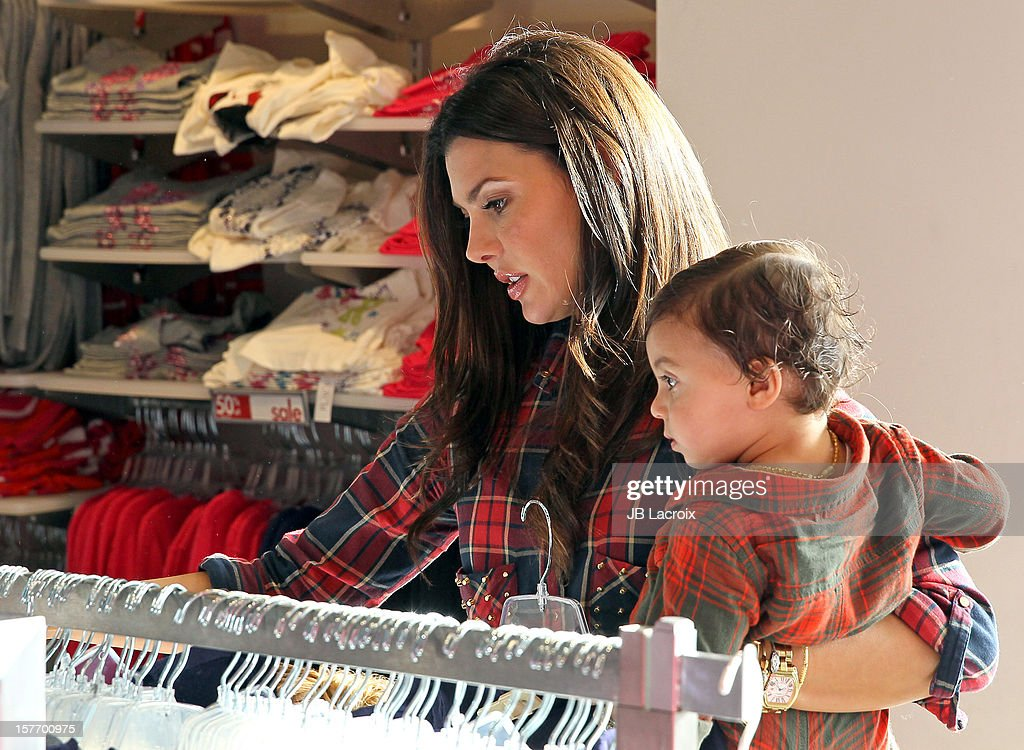 Ali Landry and Marcelo Alejandro are seen shopping at The Children's Place on December 5, 2012 in Los Angeles, California.