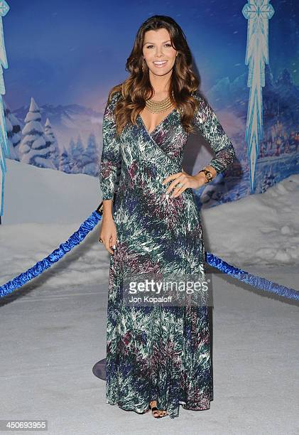 Ali Landry arrives at the Los Angeles Premiere 'Frozen' at the El Capitan Theatre on November 19 2013 in Hollywood California
