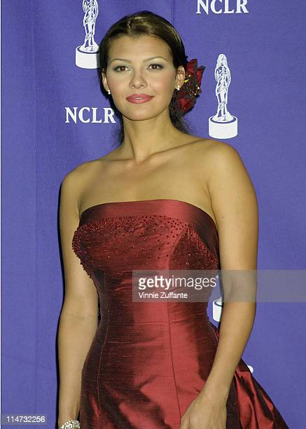 Ali Landry backstage at the 2001 ALMA Awards in Los Angeles 4/22/01