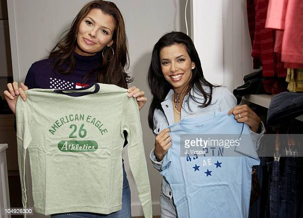 Ali Landry Eva Longoria during American Eagle Outfitters Customization Workshop at American Eagle Outfitters Showroom in Los Angeles United States