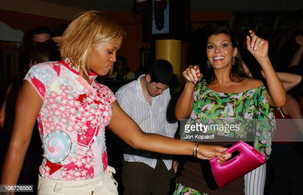 Ali Landry & Eve during Playstation 2 Hosts the Movieline Young Hollywood Awards After-Party in Los Angeles, California, United States.