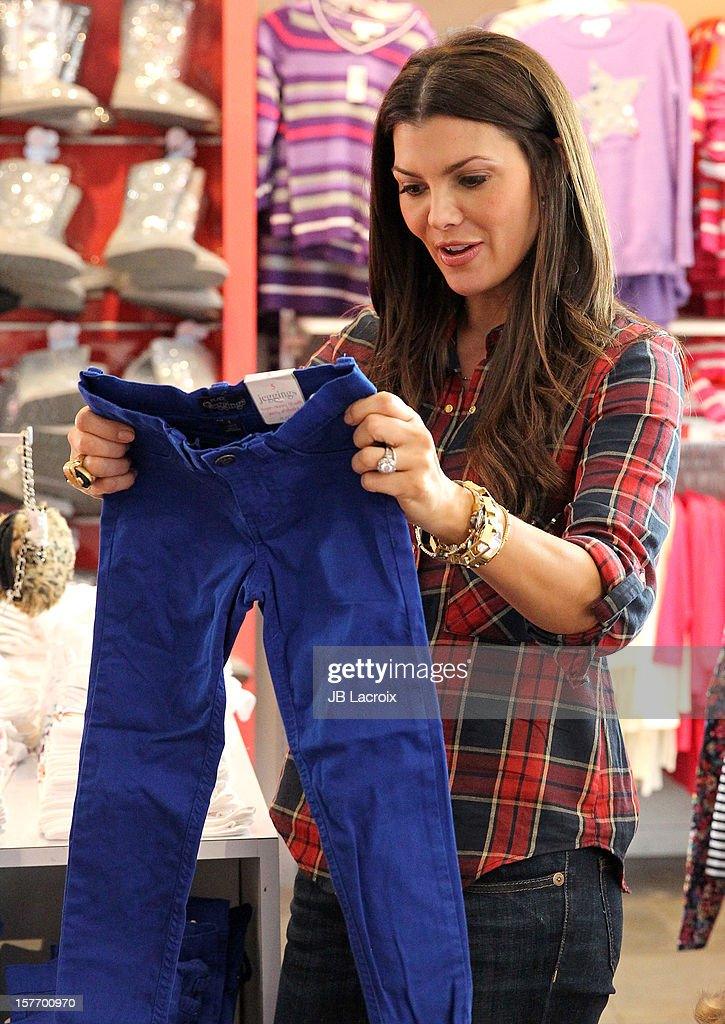 Ali Landry is seen shopping at The Children's Place on December 5, 2012 in Los Angeles, California.