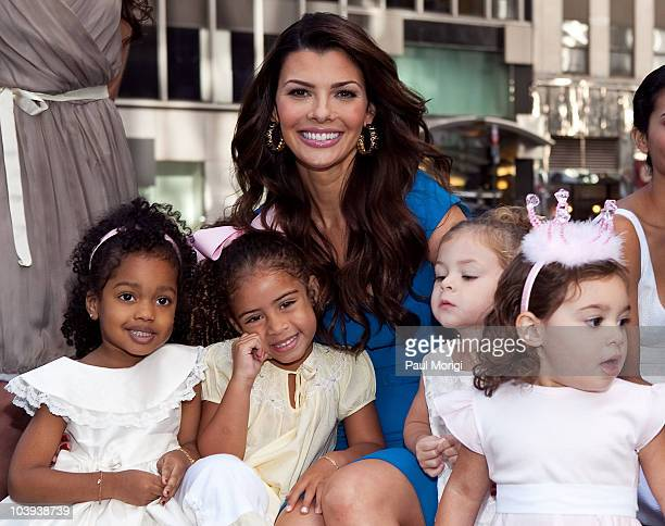 Ali Landry visiting 'FOX Friends' to give a sneak peek of her new childrens clothes collection that will debut at NY Fashion Week poses for a photo...