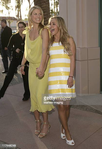 Ali Larter and Hayden Panettiere during The Academy of Television Arts and Sciences Presents An Evening with 'Heroes' Red Carpet at Leonard H...