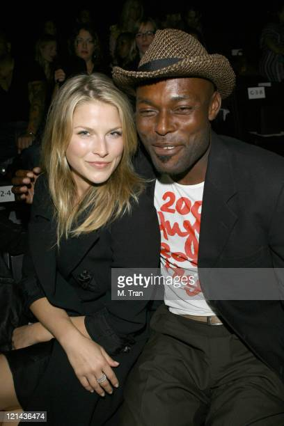 Ali Larter and Jimmy JeanLouis front row at Imitation of Christ Fall 2007