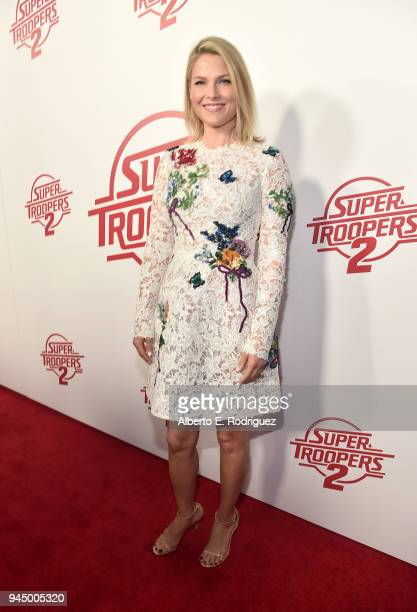 Ali Larter attend the premiere of Fox Searchlight's Super Troopers 2 at ArcLight Hollywood on April 11 2018 in Hollywood California