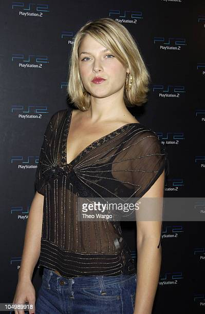 Ali Larter during East Battles West in PlayStation2 Online Gaming Tournament for Charity at Splashlight Studios in New York City New York United...