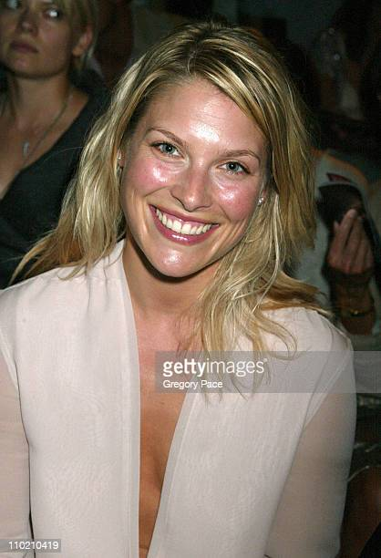 Ali Larter during Olympus Fashion Week Spring 2005 Calvin Klein Front Row and Backstage at Milk Studios 450 W 15th Street in New York City New York...