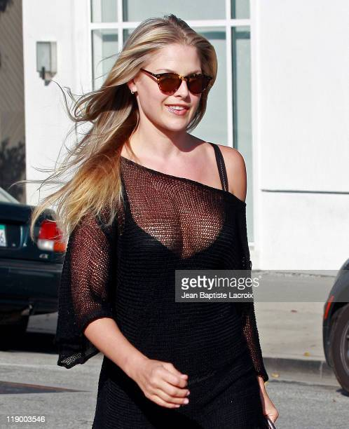 Ali Larter is seen in Beverly Hills on July 13, 2011 in Los Angeles, California.