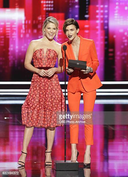 Ali Larter Ruby Rose during the PEOPLE'S CHOICE AWARDS 2017 the only major awards show where fans determine the nominees and winners across...
