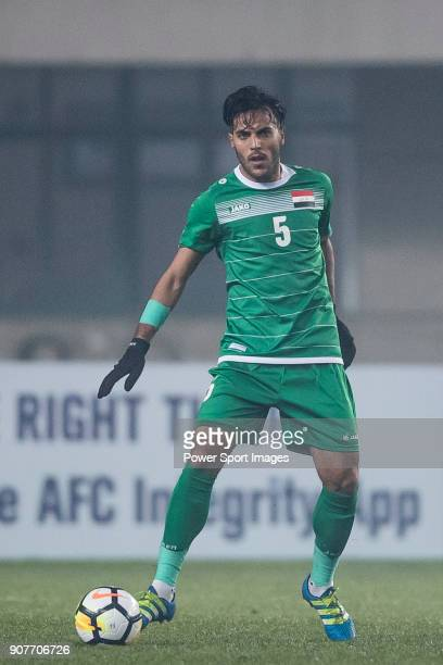 Ali Lateef of Iraq in action during the AFC U23 Championship China 2018 Group C match between Iraq and Jordan at Changshu Sports Center on 16 January...