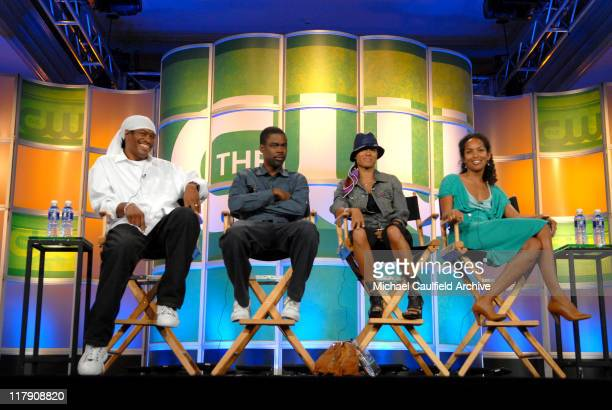 Ali LeRoi and Chris Rock executive producers of Everybody Hates Chris' Jada Pinkett Smith executive producer of 'All of Us' and Mara Brock Akil...
