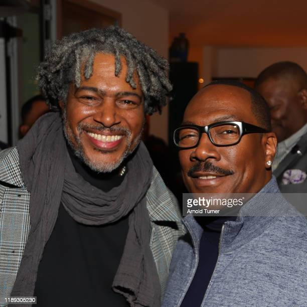 "Ali LeRoi and Eddie Murphy attend the ""Dolemite Is My Name"" LA AMPAS Hosted Tastemaker at ROSS HOUSE on November 21, 2019 in Los Angeles, California."