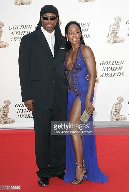 Ali Leroi and Tichina Arnold during 46th Monte Carlo Television Festival Closing Ceremony Arrivals at Grimaldi in Monte Carlo Monaco