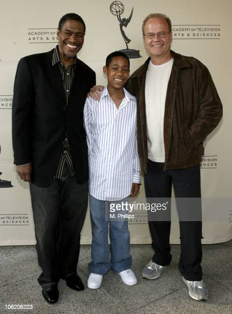 Ali LeRoi CoCreator/ Executive Producer Tyler James Williams and Kelsey Grammer