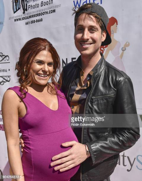 Ali Levine and Anthony Pazos attend BRAVO'S Stripped TV Personality and Celebrity Fashion Stylist Expert Ali Levine's Pink Carpet Baby Shower at...