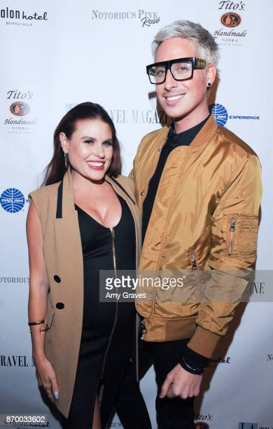 Ali Levine and Anthony Pazos attend the Los Angeles Travel Magazine Unveils Their 'FallHoliday Issue' event at The Avalon Hotel on November 3 2017 in...