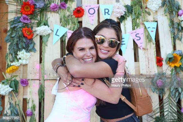Ali Levine and Arianny Celeste attend Ali Levine and Justin Jacaruso baby gender reveal celebration on October 22 2017 in Los Angeles California