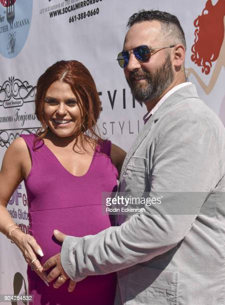 Ali Levine and husband Justin Jacaruso attend BRAVO'S Stripped TV Personality and Celebrity Fashion Stylist Expert Ali Levine's Pink Carpet Baby...