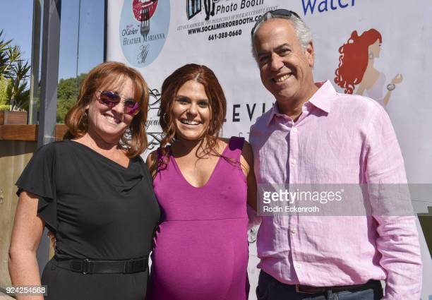 Ali Levine and parents attend BRAVO'S Stripped TV Personality and Celebrity Fashion Stylist Expert Ali Levine's Pink Carpet Baby Shower at Rockwell...