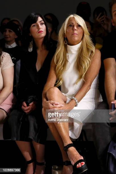 Ali Lohan and Dina Lohan attend the Vivienne Hu front row during New York Fashion Week The Shows at Gallery II at Spring Studios on September 7 2018...