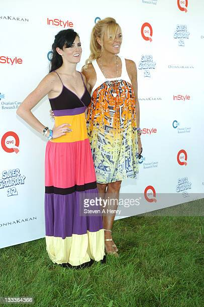 Ali Lohan and Dina Lohan attends Super Saturday 12 to Benefit Ovarian Cancer Research Fund hosted by InStyle Magazine on August 1 2009 in Watermill...