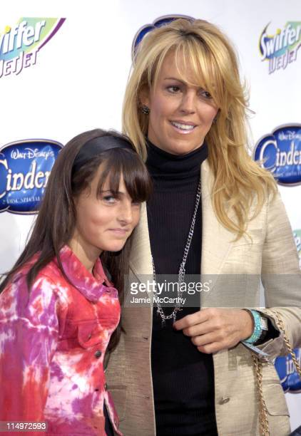 "Ali Lohan and Dina Lohan during Swiffer Wetjet Presents the ""Cinderella"" DVD Release and Royal Ball - Red Carpet at Ziegfeld Theatre in New York..."