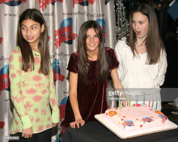 Ali Lohan and friends during Ali Lohan Celebrates Her Debut Christmas CD 'Lohan Holiday' and Her 13th Birthday with a Handprint Ceremony at Planet...