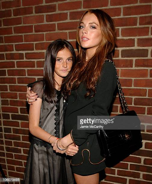 Ali Lohan and Lindsay Lohan during 'A Prairie Home Companion' New York Premiere After Party at The Hudson Hotel in New York City New York United...