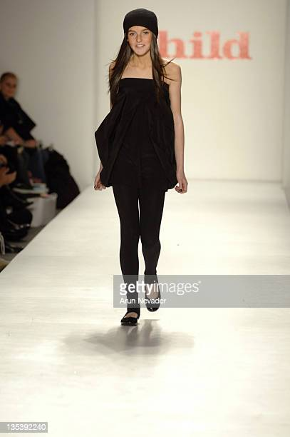 Ali Lohan at Child Magazine Fall 2007 during MercedesBenz Fashion Week Fall 2007 Child Magazine Runway at The Salon Bryant Park in New York City New...