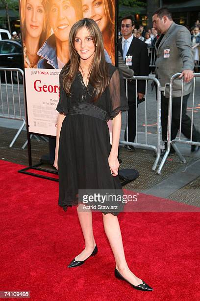 """Ali Lohan attends the premiere of """"Georgia Rule"""" at the Ziegfeld on May 8, 2007 in New York City."""
