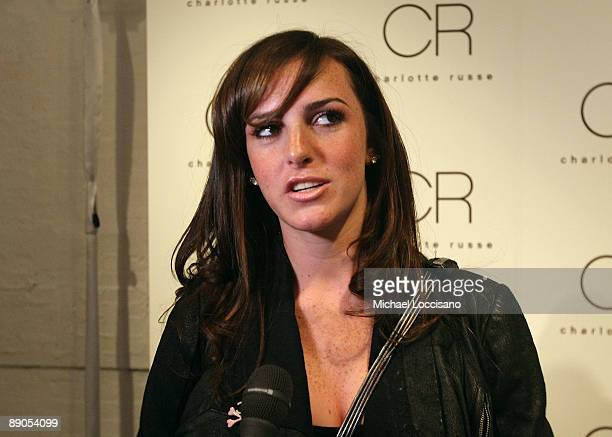 Ali Lohan is interviewed during the Charlotte Russe Fall 2009 launch event at Openhouse Gallery on July 15 2009 in New York City