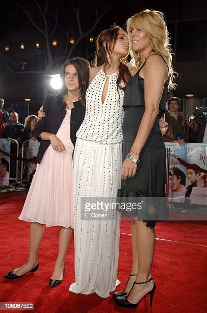 Ali Lohan Lindsay Lohan and Dina Lohan during 'Just My Luck' Los Angeles Premiere Red Carpet in Los Angeles California United States