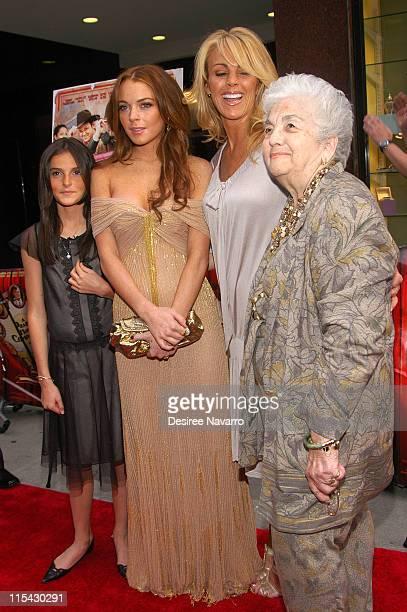 Ali Lohan Lindsay Lohan Dina Lohan and Grandma Lohan