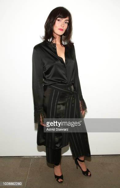 Ali Lohan poses backstage for the Vivienne Hu show during New York Fashion Week The Shows at Gallery II at Spring Studios on September 7 2018 in New...